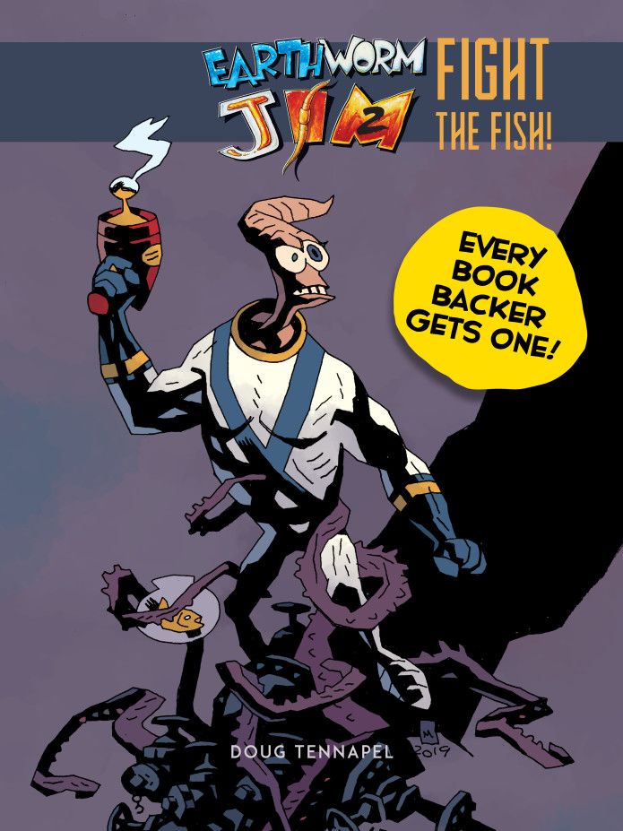 Earthworm Jim 2 comic Fight The Fish Mike Mignola cover